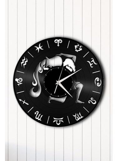 Angemiel Home Kova Burç AstrolojiPleksi Duvar Saati Siyah